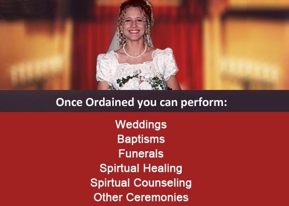Be An Ordained Minister, Preacher, Pastor, Chaplin, Etc